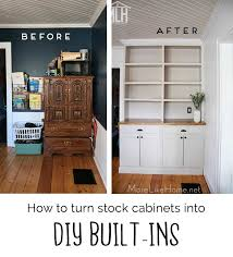 how to turn a base cabinet into a kitchen island more like home how to turn stock cabinets into diy built in s