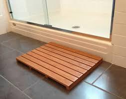 wooden bath mats are wood shower mats by floor mats