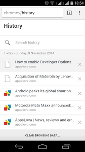 how to clear history on android how to clear browsing data in chrome in android appslova
