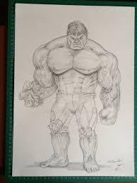 incredible hulk pencil drawing billyboyuk deviantart