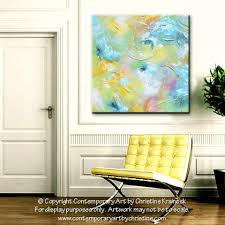 Contemporary Art Home Decor Giclee Print Art Abstract Painting Aqua Blue White Moderncoastal
