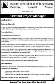 assistant managers jobs examples of job description for a manager