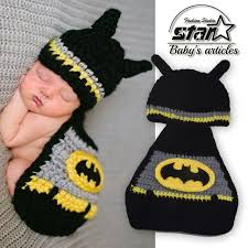 Boy Infant Halloween Costumes Aliexpress Buy Handmade Knitted Costume Batman Baby Boy