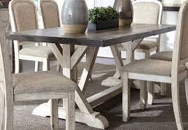 rustic dining table set distressed antique white oak pedestal and