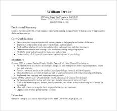 Free Pdf Resume Templates Resume Templates For Doctors 7 Psychologist Doctor Resume Free Pdf