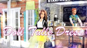 How To Make Doll Kitchen Diy How To Make Doll Tulle Dress Handmade Crafts Youtube