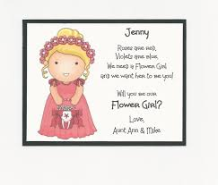 will you be my bridesmaid poem will you be my flower girl flat card