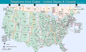 map of area codes 1 800 pavement area code map
