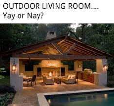 Backyard Rooms Ideas Outdoor Covered Patio With Fireplace This Would Be Amazing And