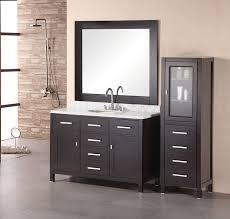 adorna 48 inch single sink bathroom vanity set contemporary linen