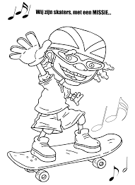 rocket power coloring page coloring page