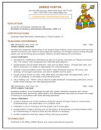 Resumes Sample by Elementary Teacher Resume Sample First Grade Teacher Resume Sample