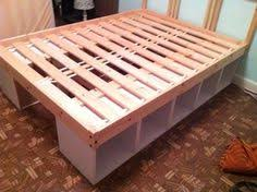or you could make a diy platform bed with ikea shelves diy