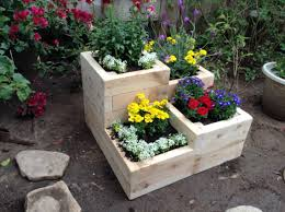 four tier garden planter box for herbs flowers or vegetables