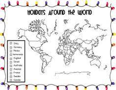 around the world activities and a freebie holidays