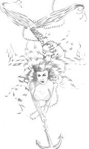 mermaid sketch for tattoo in 2017 real photo pictures images