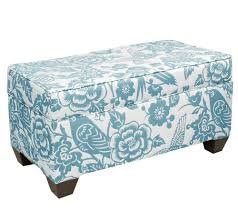Aqua Storage Ottoman Aqua Leather Storage Ottoman Blue Stash Skyline Furniture