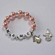 infant name bracelet newborn keepsake angel baby memory bracelet personalized name