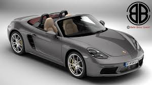 boxster porsche 2017 porsche 718 boxster 2017 3d model vehicles 3d models interior 3ds