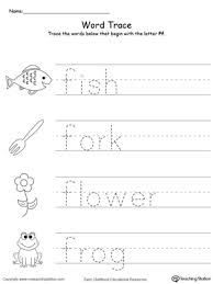 trace words that begin with letter sound f printable worksheets