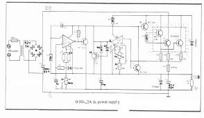 Ac Bench Power Supply How To Build 0 50v 2a Bench Power Supply Circuit Diagram