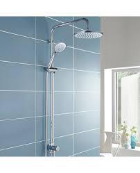 winstead multi function riser slide shower rail kit round