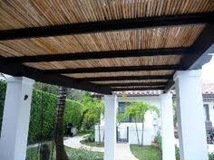 Pergola Roofing Ideas by Bamboo Fencing Rolls As Pergola Shading Design Pinterest