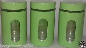 lime green kitchen canisters lime green canisters set of 3 kitchen new storage tea coffee sugar