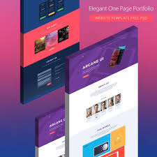 single page brochure templates psd one page creative agency portfolio template free psd