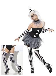 stockings halloween ladies scary clown jester costume stockings halloween
