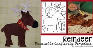 printable reindeer craft template keeping life creative