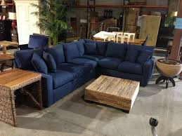 High End Sectional Sofa Furniture Microfiber Leather Couches Lovely Cool Blue Microfiber