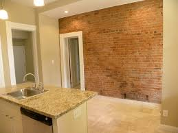 Inspiring Kitchen Wall Trim Come by Well Liked White Wooden Trim Windows Added Cool Exposed Brick Wall