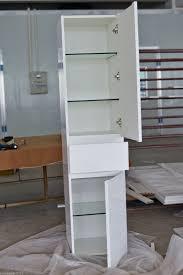 1800mm white gloss polyurethane wall hung freestanding bathroom