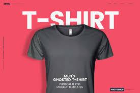 men u0027s ghosted t shirt mockups product mockups creative market