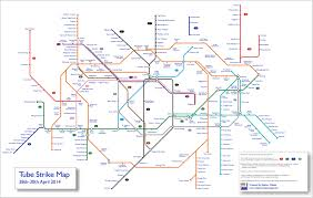 London Subway Map by Tube Strike Map April 2014 This Is What The London Underground