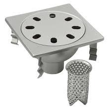 siphon cuisine inox siphon de sol en acier inox carré pour cuisine avec panier