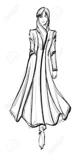sketch fashion hand drawn fashion model royalty free