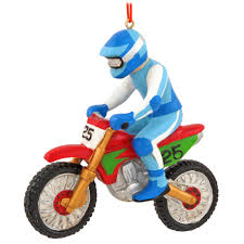 motocross racer ornament hobbies ornaments