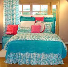 excellent blue zebra bedroom design and decoration using