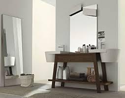 White Bathroom Vanity Ideas by Bathroom Bathroom Vanity Ideas With Wood Table And Wall Mirror