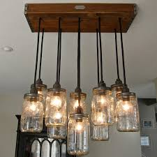 Jar Pendant Light Impressive Canning Jar Chandelier Handcrafted 14 Jar Pendant