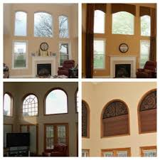 before u0026 after curtains ideas for two story windows