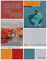 lori weitzel matthew 4 19 20 080811 dove grey scarlet and turquoise
