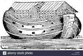 woodblock print of noah u0027s ark from a children u0027s book dated 18th