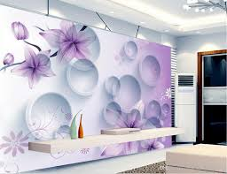 purple dream flowers 3d stereo tv background wall 3d murals see larger image