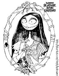 nightmare christmas sally coloring pages art tattoo