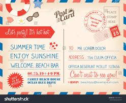 House Invitation Card Vintage Summer Holiday Postcard Background Vector Stock Vector