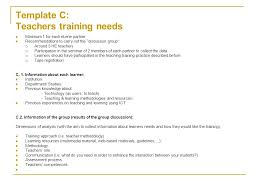 work plan wp1 objective to define criteria for assessing teachers
