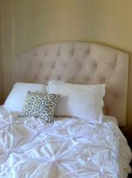 silver velvet tufted upholstered headboard crystal buttons custom